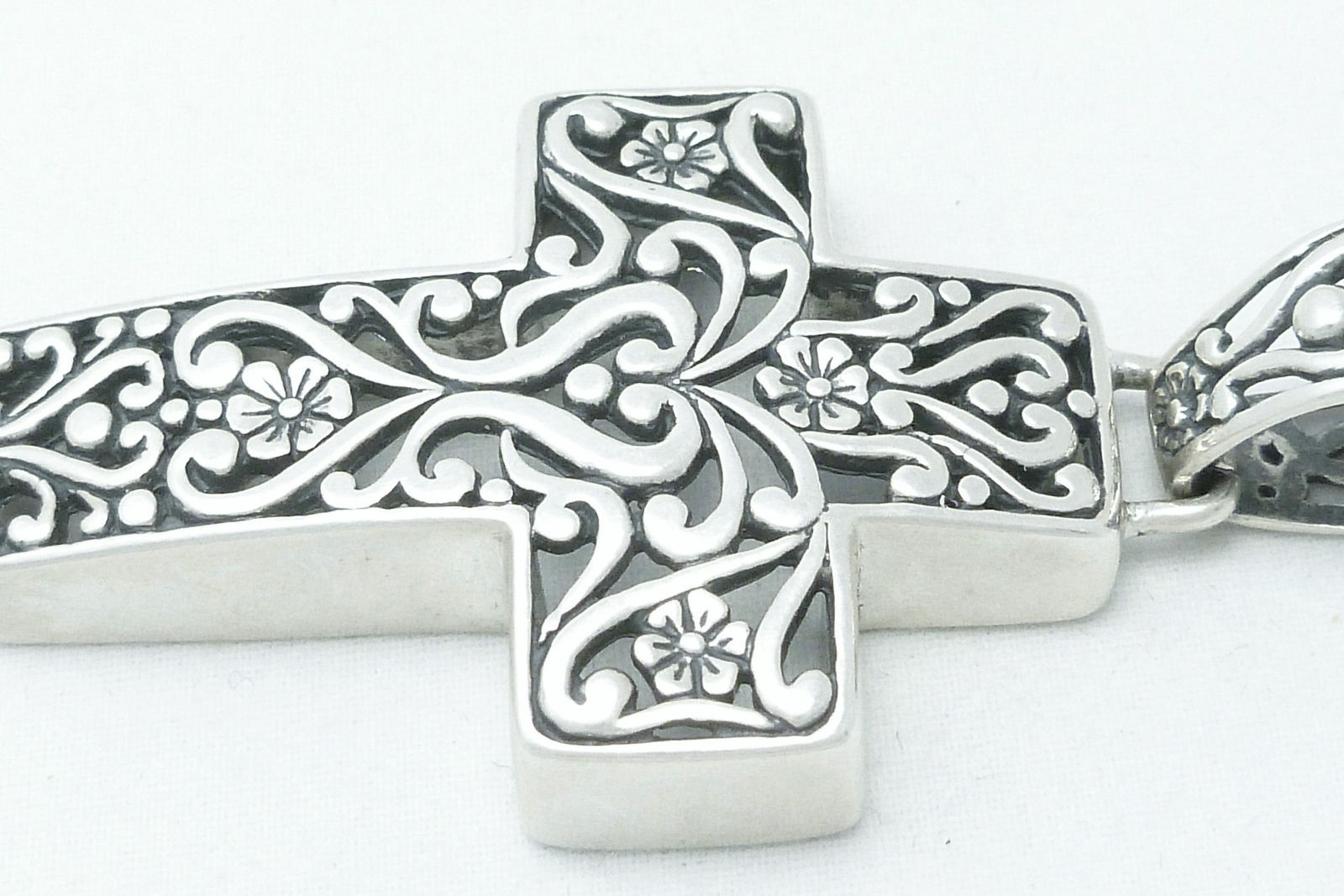 Southwestern Sterling Filigree Cross Pendant Carolyn Pollack Design