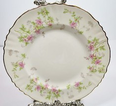 Syracuse Stansbury Bread & Plate Set of 4 Pink Rose Flowers Gold Trim Rimmed VTG - $13.98