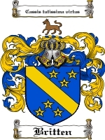 Primary image for Britten Family Crest / Coat of Arms JPG or PDF Image Download