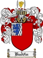 Primary image for Buddin Family Crest / Coat of Arms JPG or PDF Image Download
