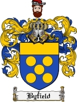 Primary image for Byfield Family Crest / Coat of Arms JPG or PDF Image Download