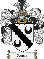 Primary image for Cante Family Crest / Coat of Arms JPG or PDF Image Download