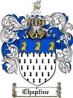 Primary image for Chapline Family Crest / Coat of Arms JPG or PDF Image Download