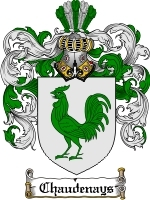 Primary image for Chaudenays Family Crest / Coat of Arms JPG or PDF Image Download