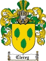 Clerey Family Crest / Coat of Arms JPG or PDF Image Download