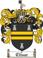 Primary image for Clivar Family Crest / Coat of Arms JPG or PDF Image Download