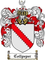 Primary image for Collpeper Family Crest / Coat of Arms JPG or PDF Image Download
