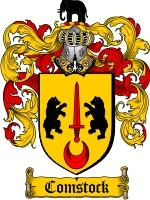 Primary image for Comstock Family Crest / Coat of Arms JPG or PDF Image Download