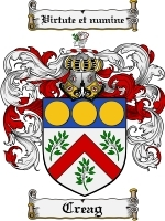 Primary image for Creag Family Crest / Coat of Arms JPG or PDF Image Download