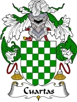 Primary image for Cuartas Family Crest / Coat of Arms JPG or PDF Image Download