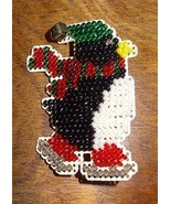 New Penguin Pin Brooch Glass Beads Jewelry Finished Mill Hill Handmade I... - $25.25