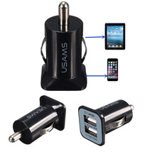 3.1A Universal Dual 2 Port 12V USB Car Charger Adapter For iPhone - $5.35
