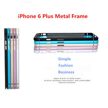 Ultra-thin Hippocampus Buckle Metal Bumper Frame For iPhone 6 Plus - $8.83