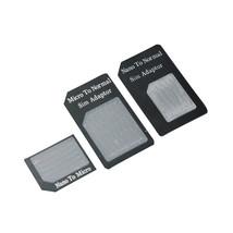 3 in 1 Nano/Micro to Micro/Standard SIM Card Adapter Tray iPhone 5 4S - $4.90