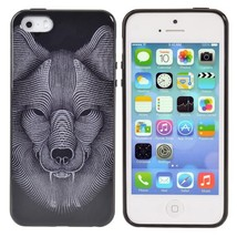 Animal Head Pattern TPU Protection Case Back Cover For iPhone 5 5S - $5.64