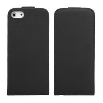 Elegance Design Flip Leather Case Cover Pouch For iPhone 5 Black - $5.35