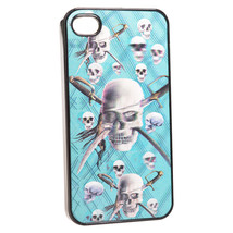 3D Skull Pattern Protective Hard Back Cases For iPhone 4 4S - $5.06