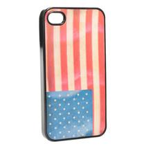 3D American Flag Pattern Defender Hard Back Case For iPhone 4 4S - $95,25 MXN