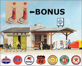 POLA HO 159 - 1950s (or 1920s - BONUS) Gas Station - 2 KITS - $66.50