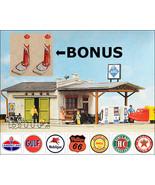 POLA HO 159 - 1950s (or 1920s - BONUS) Gas Station - 2 KITS - $66.50