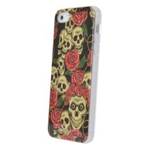 Crossbones Rose Pattern Protection Back Cover Case For iPhone 5 5S - $5.64