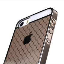 Luxury Grid Ultra Thin Vacuum Electroplate Case For iphone5 5S - $11.95