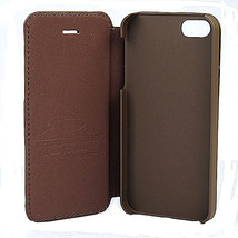 Flip Leather With Magnetic Button Hard back Case For iPhone5 5S - $11.82