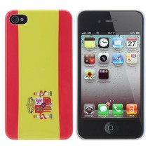 World Cup Spanish Flag Pattern Case Cover For iPhone 4 4S - $5.35