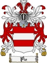 Pio Family Crest / Coat of Arms JPG or PDF Image Download - $6.99