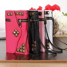 Zipper Flip PU Leather Pouch Wallet Credit Card Case For iPhone 5C - $9.70