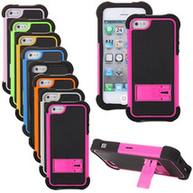 2 in 1 Heavy Duty Shock Proof Rugged Case With Stand For iPhone 5 5S - $6.22