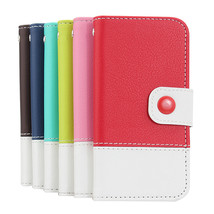 Fashion Design PU Leather Flip Case With Card Holder For iPhone 5 - $8.98