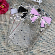 Crystal 3D Bow Diamond Bling Plastic Hard Case iPod Touch 5 - $8.24