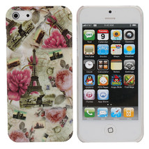 Postcard Style Romantic Pairs Pattern Protective Case For iPhone 5 - $5.35