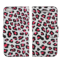 Fashion Design Leopard Print Leather Case For iPhone5 - $8.90