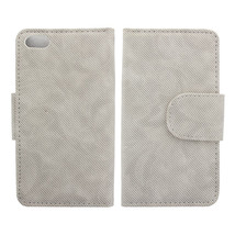 Twill Pattern Pure Color Simple Design Leather Case for iPhone5 - $8.21