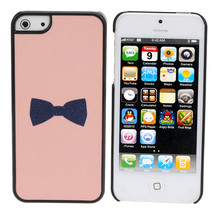 Cute Frosted Black Bow Back Plastic Case Cover Skin For iPhone 5 - $5.66