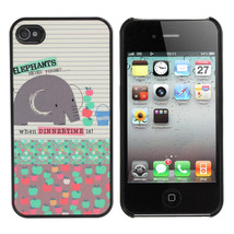 Colorful Cute Cartoon Elephant Case For iPhone 4 4S - $5.16