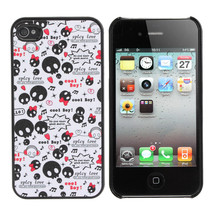 Colorful Frosted Cute Cartoon Skeleton Skull Case For iPhone 4 4S - $5.16
