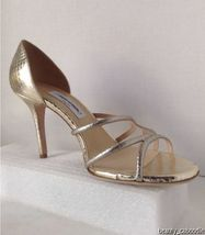 NEW Authentic JIMMY CHOO Straits D'Orsay Gold Sandals (Size 40.5) - MSRP $795.00 image 6
