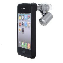 60X Zoom LED Magnifier Loupe Optical Mini Microscope Lens For iPhone 4 - $10.34