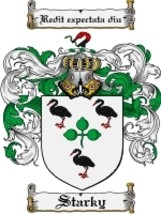 Starky Family Crest / Coat of Arms JPG or PDF Image Download - $6.99