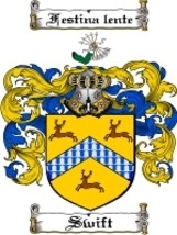 Swift Family Crest / Coat of Arms JPG or PDF Image Download - $6.99