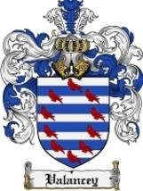 Valancey Family Crest / Coat of Arms JPG or PDF Image Download - $6.99