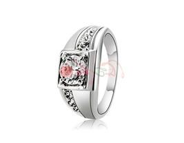 Rigant Simple Design Crystal Rhinestone Decorated Ring Sz 9 (Silver) - $6.77