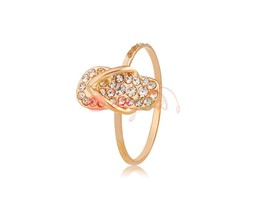 Rigant Crystal Slipper Decoration Stylish Ring Sz 8 M. - $8.84