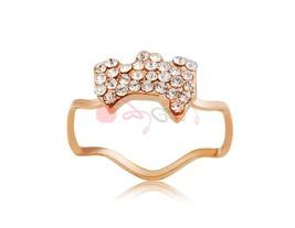 Rigant Crystal Puppy Decoration Stylish Ring Sz 8 M. - $7.07