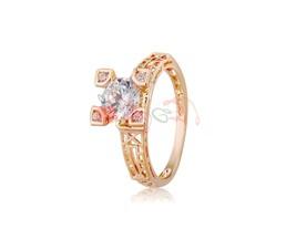 Rigant 18K Alloy & Austrian Crystal Ring Sz 9 M. - $9.43