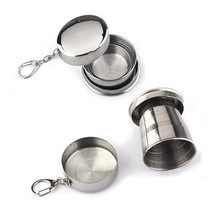 Stainless Steel Travel Folding Collapsible Cup Telescopic - $7.18