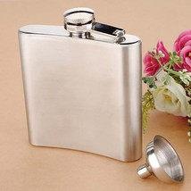 Stainless Steel Pocket Whisky Liquor 6 OZ Hip Flask With Funnel - $9.48